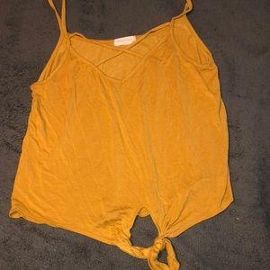 Mustard yellow tank top!